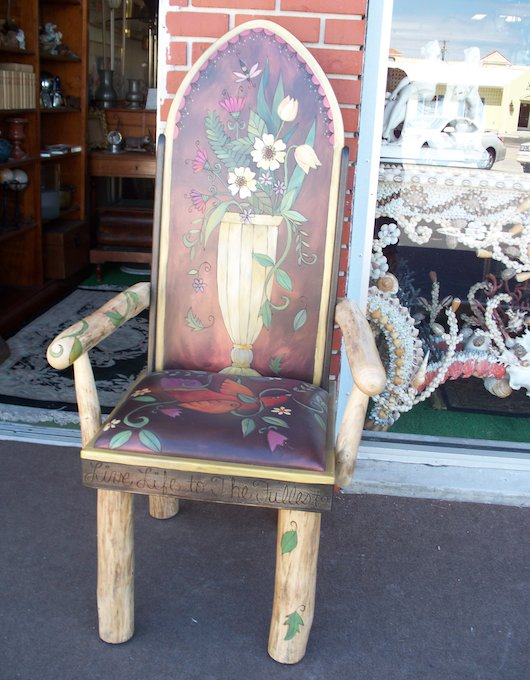Antique Wood Chair in Naples Florida