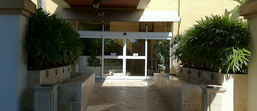 Bayfront Inn Lobby Entrance in Naples