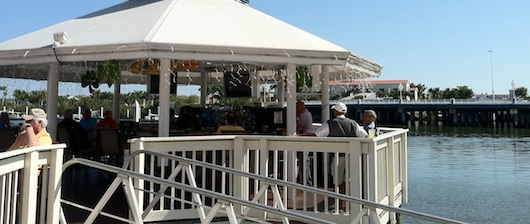 Bar beside Bayfront Inn on Naples Bay... Florida