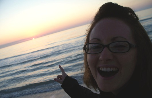 Andrea at Sunset on the Beach in Naples Florida