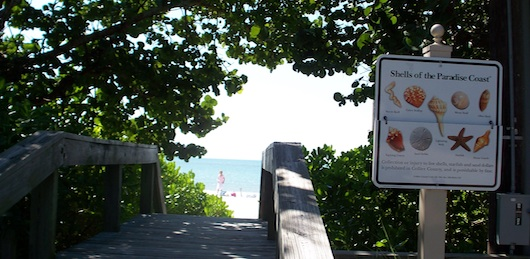 Olde Naples Beach Entrance