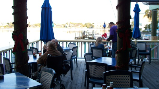 Outside Seating at Buzz's Lighthouse Waterfront Restaurant