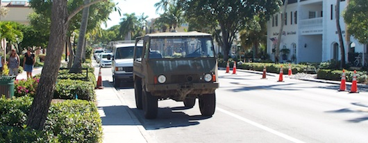 Old Army Vehicle in Naples