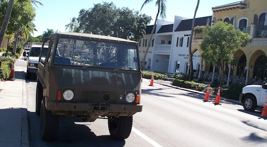 Classic Army Vehicle in Naples