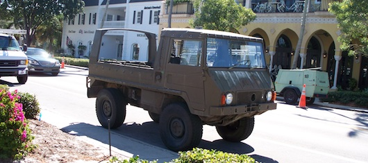 Cool Army Vehicle in Naples