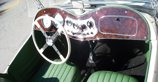 Classic Car in Naples Florida Interior - MG