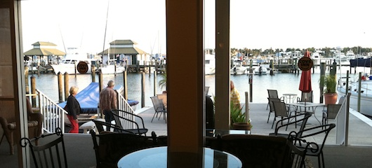 Lobby View of Naples Bay at the Cove Inn