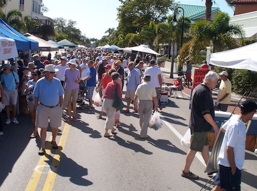 Farmers Market on Third Street in Naples Florida