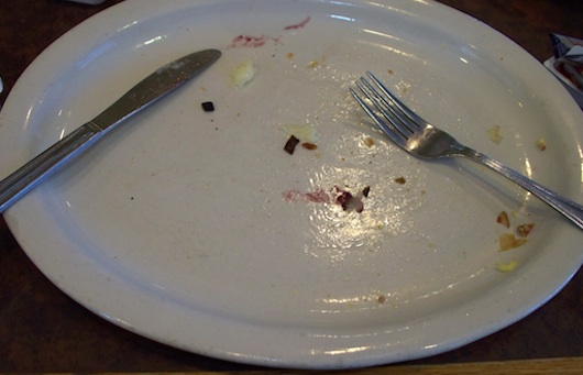 My plate after I was finished at First Watch in Naples