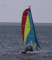 Sailing in Naples Florida with a Hobie Cat