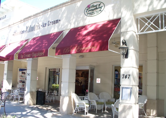 Kilwin's Chocolate and Ice Cream on Fifth Avenue South in Naples Florida