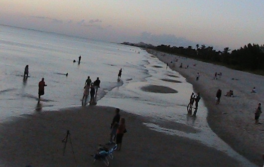 Low Tide at the Beach in Naples Florida