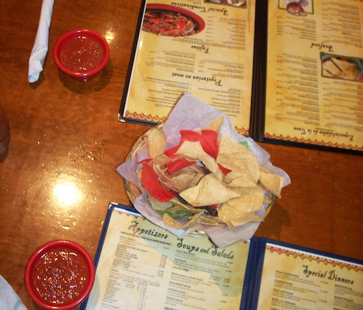 Chips and Salsa and our menus at Mr Tequila Mexican Restaurant in Naples
