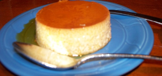 Delicious flan at Mr Tequila Mexican Bar and Restaurant in Naples Florida