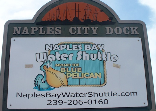 Naples Bay Water Shuttle - Blue Pelican