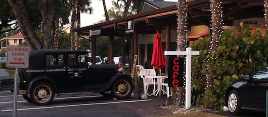 Neighborhood Cafe - You'll See The Antique Car Outside - Naples Florida