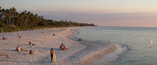 On The Beach in Naples Florida