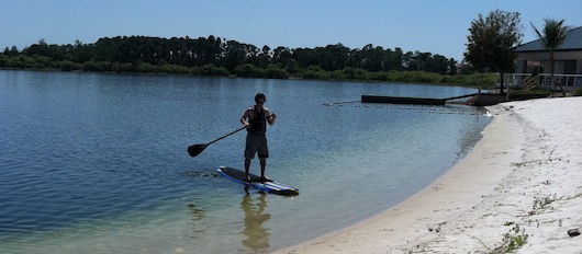 Paddleboarding at Sugden Park in Naples