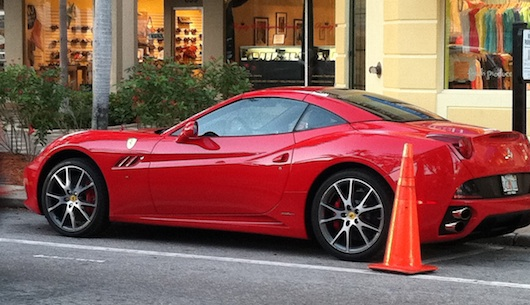 Red Ferrari in Naples