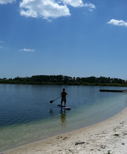 Stand Up Paddleboarding at Sugden Park