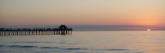 The Naples Fishing Pier at Sunset