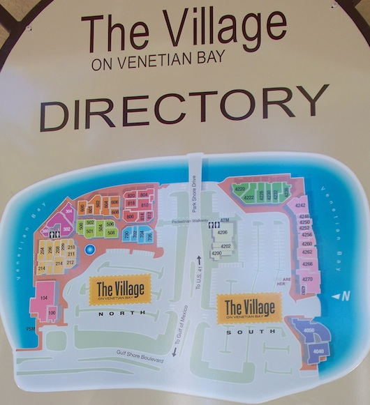 The Village at Venetian Bay Map and Directory