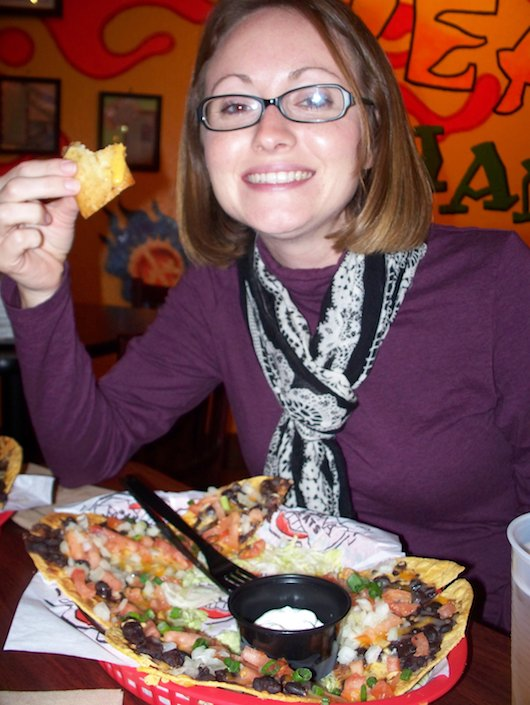 Tostadas at Tijuana Flats in Naples make Andrea HAPPY!