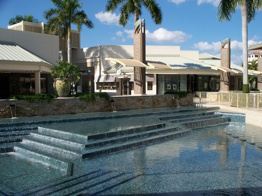 Waterfalls at Waterside Shops in Naples FLorida