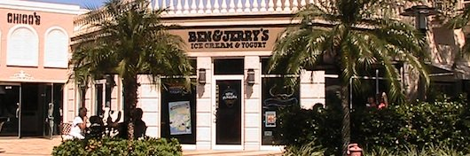 Ben and Jerry's Ice Cream at the Village in Naples Florida