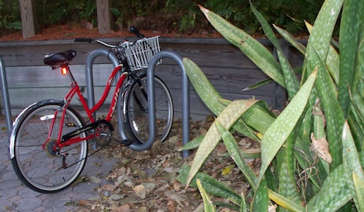 Bicycle parked at the beach in Naples Florida