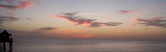Clouds after sunset at Naples Pier