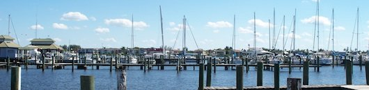 City Dock from Crayton Cove in Naples Florida