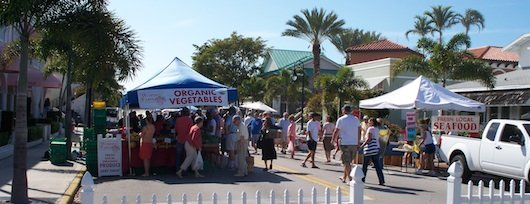 Farmer's Market on Third Street South in Naples