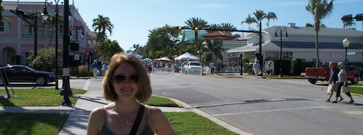Andrea at the Farmers Market on Third Street South in Naples Florida