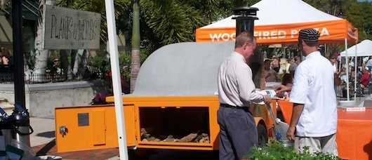 Wood Fired Pizza at the Farmer's Market on Third Street in Naples