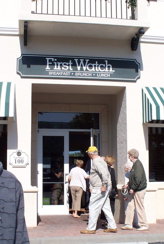 First Watch in Downtown Naples Florida