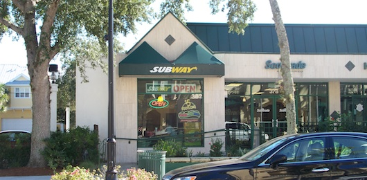 Subway on Fifth Ave in Naples