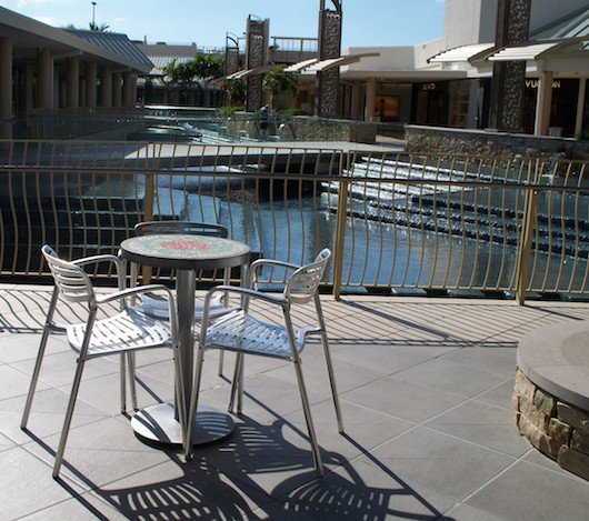 Table and Chairs with a View at Waterside Shops