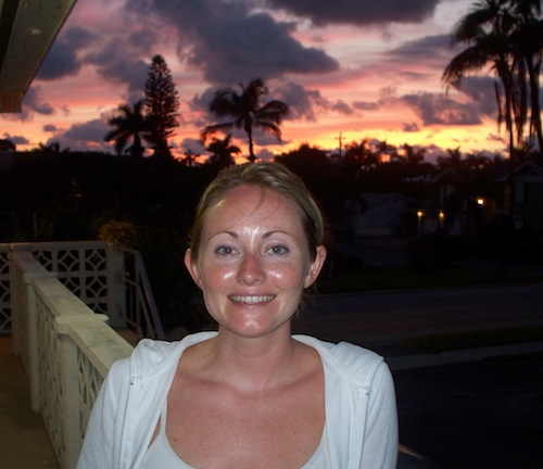 Andrea after a Naples Florida sunset