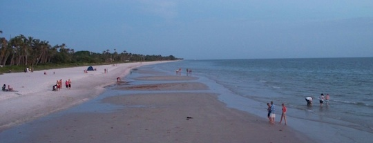 View of the beach in Naples Florida, picture taken from the Pier
