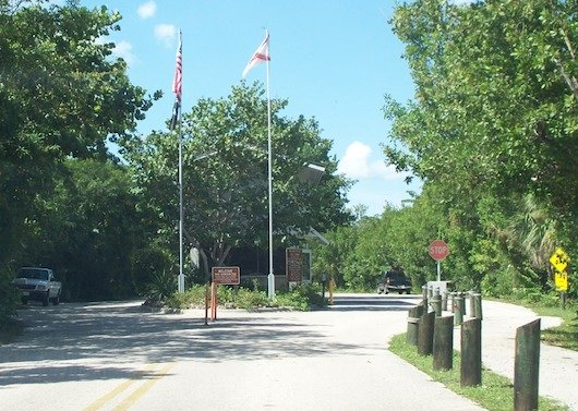 Entrance to Wiggins State Park in Naples Florida