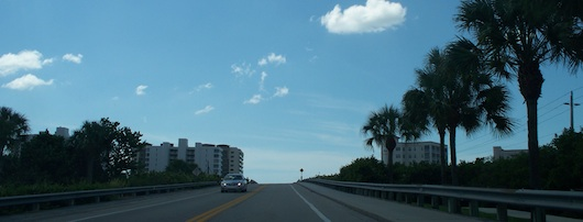 Going over the bridge to North Naples beach