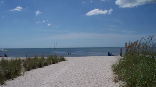 The beach in North Naples by Gulfshore Drive and Immokalee Road