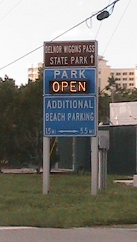 Delnor Wiggins State Park Beach in Naples Florida - Open